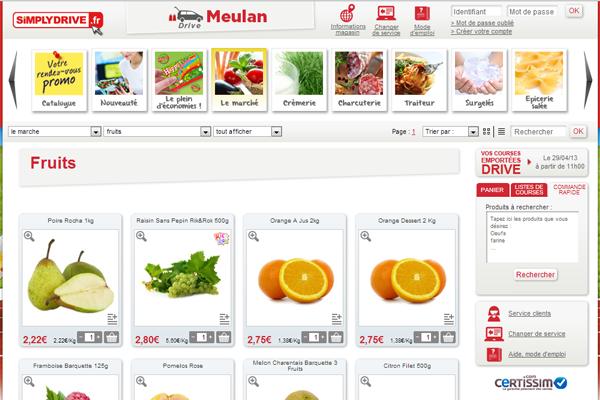 Site internet de Simply Market